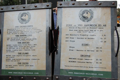 Seattle Street Food Menu